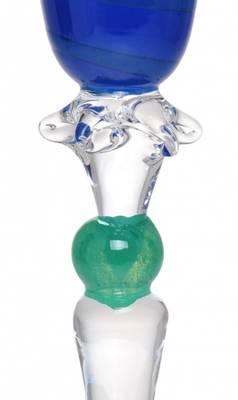 Kunstglass - Blå keiser